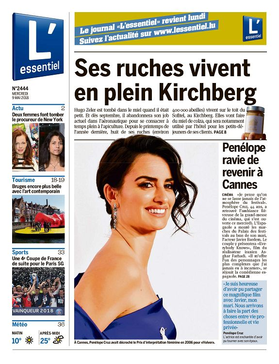 Lessentiel Luxembourg N2444 9 Mai 2018 Page 14 15 L