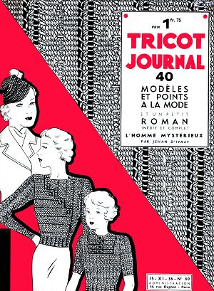 Tricot Journal n°60 15 nov 1936
