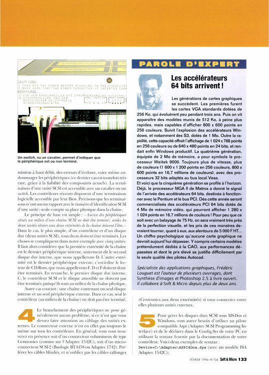 Soft Micro N 104 Fevrier 1994 Page 132 133 Soft Micro N